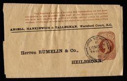 A4759) UK Privat Wrapper From London 14.11.94 To Heilbronn - 1840-1901 (Viktoria)