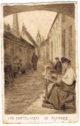 Dentellières En Flandre - Carte Artistique - People