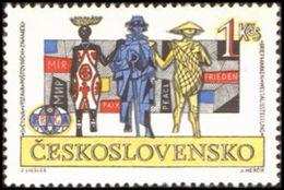 Czechoslovakia / Stamps (1962) 1266: PRAGA 1962 (international Solidarity); Painter: Josef Liesler - Languages