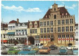 Bergen Op Zoom - Stadhuis - Groot Formaat - Oldtimer Daf / Austin / Mini / Mercedes / Volkswagen Kever ... - Bergen Op Zoom