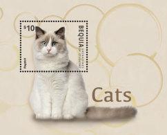 BEQUIA GRENADINES 2014 ** Cats Katzen Ragdoll S/S - OFFICIAL ISSUE - DH9999 - Hauskatzen