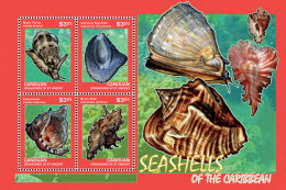 CANOUAN GRENADINES 2014 ** Seashells Muscheln M/S - OFFICIAL ISSUE - DH9999 - Muscheln