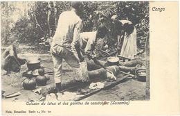 Congo Belge – Cuisson Du Latex Et Des Galettes De Caoutchouc ( Lusambo ) - Congo Belge - Autres