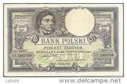 POLOGNE - POLAND - Banknote - Billet De 500 Slotych Type Kosciuszko Du 28 02 1919 - 500 ZLOTY  - - Polen