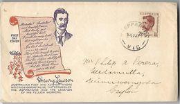 AUSTRALIE-Enveloppe 1er Jour De Henry Lawson En 1949 - FDC