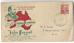 AUSTRALIE-Enveloppe 1er Jour De  John Forrest  En 1949 - FDC