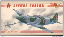 Russia, 2011, Mi. 1708-11, Sc. 7266, SG 7741-44, Weapon Of The Victory, WW II, Military Aircraft, Airplanes, Booklet - 1992-.... Federazione