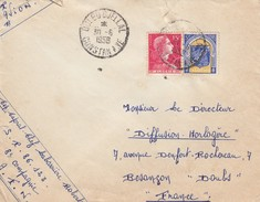 OULEDDJELLAL CONSTANTINE. 30 6 58. LETTRE ALGERIE OBLITERATION RONDE - Algeria (1924-1962)