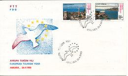 Turkey FDC 26-4-1990 European Tourism Year With Cachet - FDC