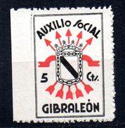 Viñeta  Nº 4 Auxilio Social    Gibraleon. - Vignettes De La Guerre Civile