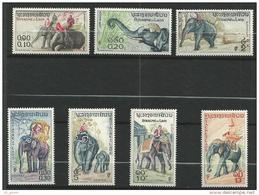 """Laos YT 44 à 50 """" Elephants """" 1958 Neuf** - Laos"""