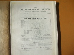 The Architectural Review August 1939 New York World's Fair Buildings Pavilions Plates Old Commercials - Books, Magazines, Comics