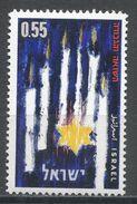 Israel 1962. Scott #221 (MNH) Yellow Star, Candles, Étoile Jaune, Chandelles - Israel