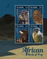 GAMBIA 2014 ** Birds Of Prey Greifvögel M/S I - OFFICIAL ISSUE - DH9999 - Adler & Greifvögel