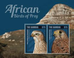 GAMBIA 2014 ** Birds Of Prey Greifvögel S/S I - OFFICIAL ISSUE - DH9999 - Adler & Greifvögel