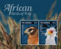 GAMBIA 2014 ** Birds Of Prey Greifvögel S/S II - OFFICIAL ISSUE - DH9999 - Adler & Greifvögel