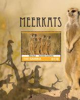 GAMBIA 2014 ** Meerkats Erdmännchen S/S I - OFFICIAL ISSUE - DH9999 - Briefmarken
