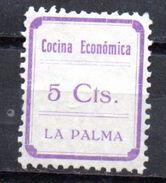 Viñeta  Nº 1  Cocina Economica La Palma. - Verschlussmarken Bürgerkrieg