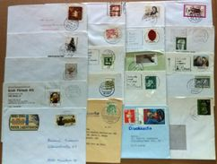 Germany / 20 X Covers / Art, Music, Donkey, Dog, Cat, Rooster, Stamp Day, Horse, Castle, Tractor, Jesus Christ, Hebel - BRD
