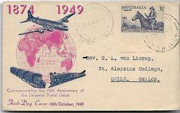 AUSTRALIE-Enveloppe 1er Jour  De L ' U.P.U  En 1949 - FDC