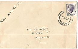 AUSTRALIE-Enveloppe 1er Jour    En 1957 - FDC