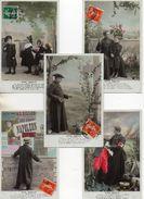 Croissant 3348, Série De 5 Cartes Sans Famille (curé Enfant Patriote - Uomini