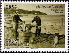 St Pierre Et Miquelon 2017 - Métiers De La Pèche, La Morue - 1val Neufs // Mnh - St.Pierre & Miquelon
