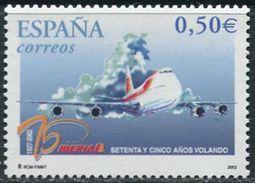 Espana 2002. Michel #3756 MNH/Luxe. 75 Years Of IBERIA. (Ts21) - 2001-10 Unused Stamps
