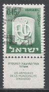 Israel 1965. Scott #283 (U) Arms Of Ashdod - Oblitérés (avec Tabs)