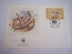 Enveloppe Premier Jour WWF - Sand Cat  - 1989 - Yemen - Covers & Documents