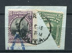 Bolivien Porto Nr.70  +  85 Halbierung       O  Used        (207) - Bolivie