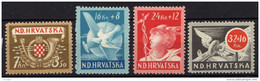Kroatien (NDH) 1944 Mi 150-153 * [270816XVI] - Croatia