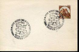 24102 Italia, Special Postmark 1983 Reggio Emilia Sacrificio 7 Fratelli Cervi - Seconda Guerra Mondiale