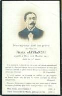 FAIRE-PART De JPierre Alessandri Le  6 Octobre 1910 - Overlijden