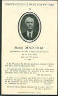 FAIRE-PART Du Décès De Henri Dénécheau Le 21 Juin 1944 - Obituary Notices