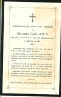 FAIRE-PART Du Décès De Georges Gaultier Le 31 Décembre 1918 - Obituary Notices
