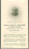 FAIRE-PART Du Décès De Madame  Hippolyte Courtonne Le 25 Février 1935 - Obituary Notices