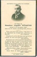 FAIRE-PART Du Décès De Monsieur Auguste Bénastre Le 6 Novembre 1927 - Obituary Notices