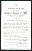 FAIRE-PART Du Décès De Monsieur Francis Ripert Le 2 Juillet 1908 - Obituary Notices