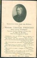 FAIRE-PART Du Décès De Madame Charles Provost Le 15 Avril 1922 - Obituary Notices