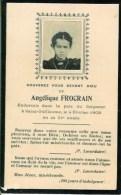 FAIRE-PART Du Décès De Madame Angélique Frocrain Le 4 Février 1909 - Obituary Notices