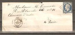 Lot   1378     //      Nr    14  PC  3537  VERSAILLES - Marcophilie (Lettres)