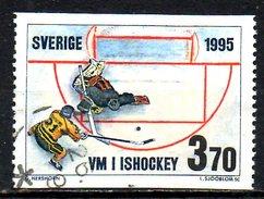 SUEDE. N°1863 De 1995 Oblitéré. Hockey Sur Glace. - Jockey (sobre Hielo)