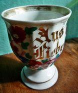 """Alter Kakaobecher """"Aus Liebe"""" Mit Blumendekor - Ceramics & Pottery"""