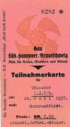 1937 - FRONT DU TRAVAIL - Carte D'Abonné VACANCIERS - - Documents Historiques
