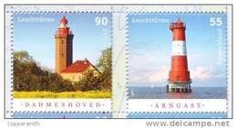 (064) Germany / Allemagne / RFA  2011  Lighthouses / Phares / Leuchttürme   ** / Mnh  Michel 2878-79 - [7] Federal Republic