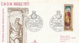 Ordre De Malte FDC 1/12/1971 Ordine Di Malta Sovrano Militare - Poste Magistrali - Malte (Ordre De)
