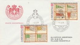 Ordre De Malte FDC 1/3/1977 Ordine Di Malta Sovrano Militare - Poste Magistrali - Malte (Ordre De)