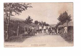 54 Arnaville La Frontiere Cpa Animée Soldat Militaire Cycliste Cycle Tandem Correspondance 1916 - Francia