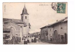 54 Allain Place De La Mairie Cpa Animée Cachet 1910 - Other Municipalities